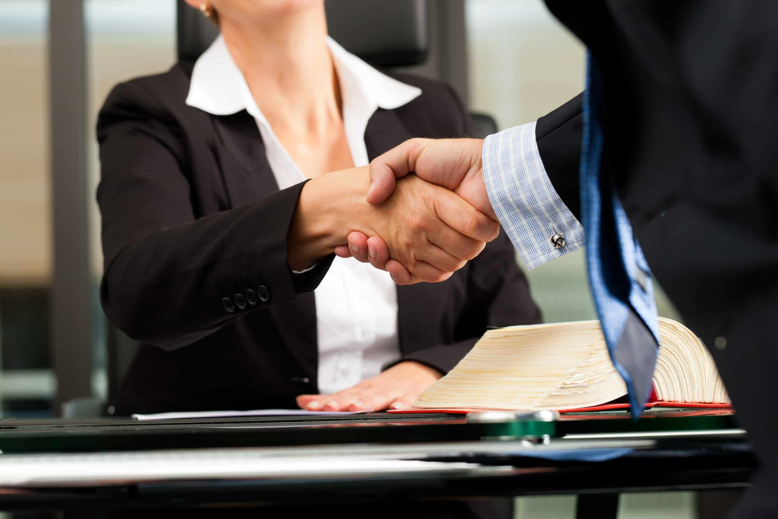 Female lawyer or notary